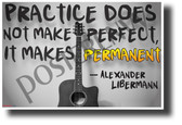 """Practice Does Not Make Perfect..."" - Alexander Libermann - NEW Music Classroom Poster (mu090) PosterEnvy Poster"