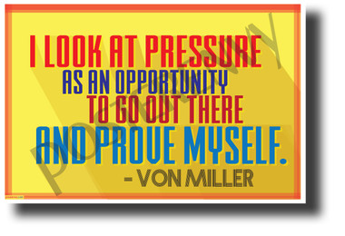 """""""I Look At Pressure As An Opportunity..."""" - Von Miller - NEW Motivational Quote Poster (cm1229) PosterEnvy Poster"""