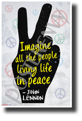 """""""Imagine All The People..."""" - John Lennon - NEW Motivational Quote Poster (cm1241)"""