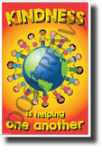 Kindness is Helping One Another - NEW Classroom Motivational Poster (cm1245)