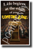 Life Begins at the Edge of Your Comfort Zone - NEW Classroom Motivational Poster (cm1246)