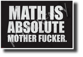 Math Is Absolute - NEW Humor POSTER (hu417) PosterEnvy Poster