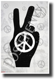 Peace Symbol - NEW Classroom Motivational Poster (cm1249)