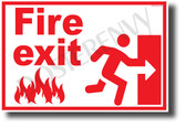 Fire Exit Right - NEW Laboratory or Classroom Fire Safety Poster (ms316) PosterEnvy