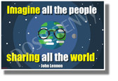 Imagine All The People- NEW Motivational Music Classroom Poster