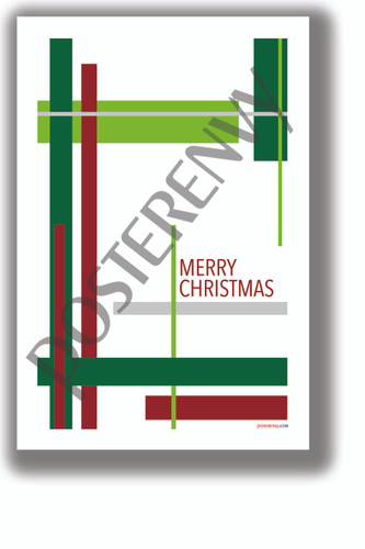 Merry Christmas Rectangles - NEW Classroom Motivational Poster - Poster Envy