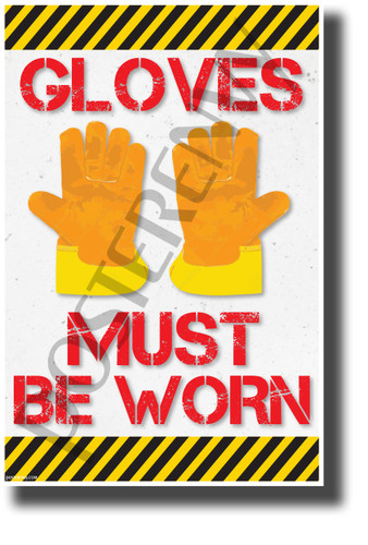 Gloves Must Be Worn - NEW Classroom Science Poster