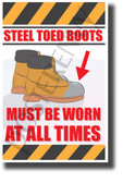 Steel Toed Boots Must Be Worn - NEW Classroom Science Poster