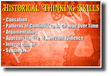 Historical Thinking Skills - NEW Classroom Social Studies POSTER (ss182)