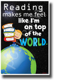 Reading Can Take You on an Amazing Adventure 2 - NEW Classroom Motivational Reading POSTER (rw207)