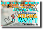 The Difference Between Perseverance and Obstinacy - NEW Classroom Motivational POSTER