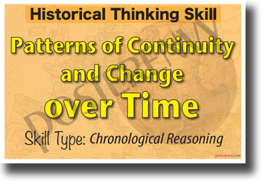 Patterns of Continuity and Change Over Time - NEW Classroom Social Studies POSTER
