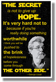 George Lucas - The Secret is to Not Give Up Hope - NEW Classroom Motivational Poster