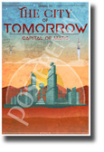 The City of Tomorrow - NEW Humor Novelty Vintage Style POSTER