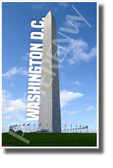 Washington DC - Washington Memorial - NEW U.S State City Travel Poster