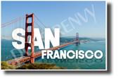 San Francisco, California - Golden Gate Bridge - NEW U.S City Travel POSTER