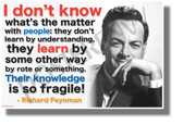 I Don't Know What's the Matter with People - Richard Feynman - NEW Classroom Motivational Quote Poster