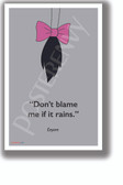 Eeyore motivational Winnie the Pooh Milne Don't Blame Me tail classroom school poster