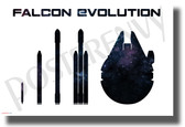Falcon Evolution - NEW SpaceX Humor POSTER