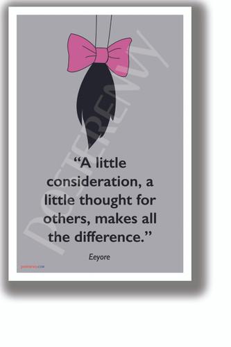 PosterEnvy A Little Consideration - Eeyore - NEW Motivational Classroom POSTER (cm1326)
