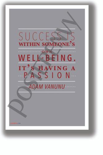 Having a Passion - Adam Vanunu - NEW Motivational Classroom POSTER (cm1327)