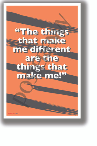 The Things That Make Me Different - Tigger - NEW Motivational Classroom POSTER (cm1328)