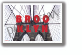 Brooklyn Bridge Horizontal Text - NEW U.S State City Travel Poster (tr609)