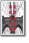Brooklyn Bridge Vertical Text - NEW U.S State City Travel Poster (tr610)