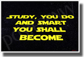 Study you do and smart you shall become - NEW Motivational Classroom POSTER