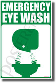 Emergency Eye Wash - NEW Laboratory or Classroom Science Poster
