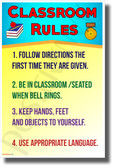 Classroom Rules #15 - NEW Classroom Motivational Poster