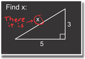 Find X... There it is! - NEW Humor Funny Math Geometry POSTER (hu090)