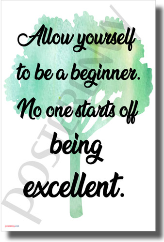 Allow Yourself to be a Beginner - NEW Classroom Motivational POSTER