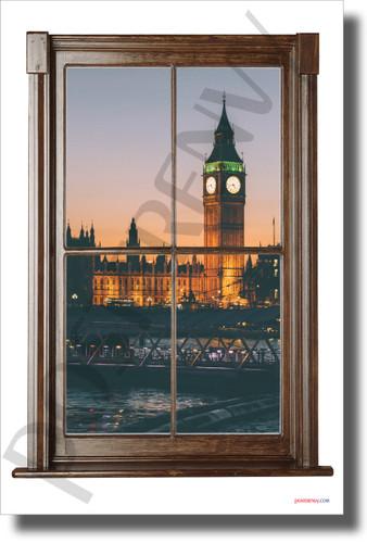 Big Ben - Window View - NEW World Travel Poster (tr614)