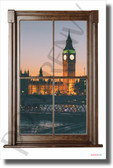 Big Ben - Window View - NEW World Travel Poster (tr614)