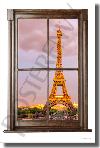 Paris, France - Window View - NEW World Travel Poster (tr615)