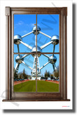 Atomium in Belgium - Window View - NEW World Travel Poster (tr616)