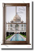 Taj Mahal - Window View - NEW World Travel Poster