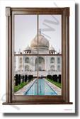 Taj Mahal - Window View - NEW World Travel Poster