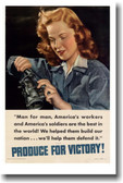 America's workers are the best in the world! - Vintage WW2 Poster