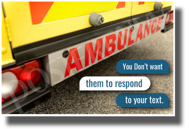 You Don't Want Them to Respond to Your Text - NEW Health and Safety POSTER