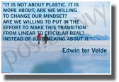 It is Not About Plastic. It is More About are We Willing to Change Our Mindset? - Edwin TER Velde - New Environmental Motivational Classroom Poster