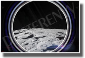 Moon Horizon in Spaceship Window - NEW Classroom Science Poster (ms346)