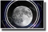 Moon View in Spaceship Window - NEW Classroom Science Poster