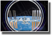 ISS View in Spaceship Window - NEW Classroom Science Poster