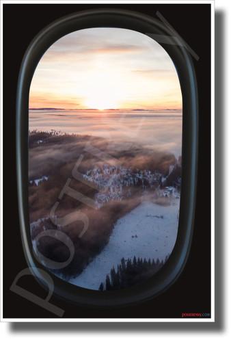 Winter Tundra - Airplane Window View - NEW World Travel Poster (tr619)