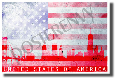 United States of America - Classroom Patriotic USA POSTER