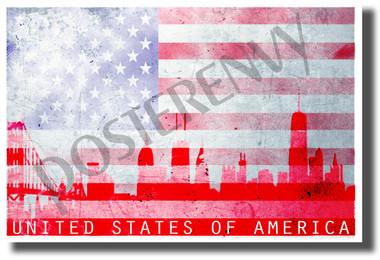 United States of America - Classroom Patriotic USA POSTER