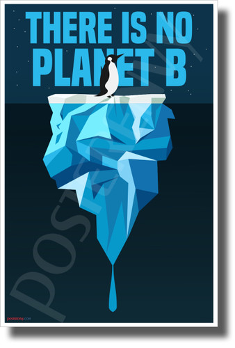 There Is No Planet B - Penguin - New Environmental Awareness POSTER