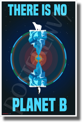 There Is No Planet B - North & South - New Environmental Awareness POSTER